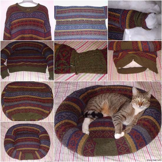 14-diy-sweatshirt-or-sweater-pet-bed-17