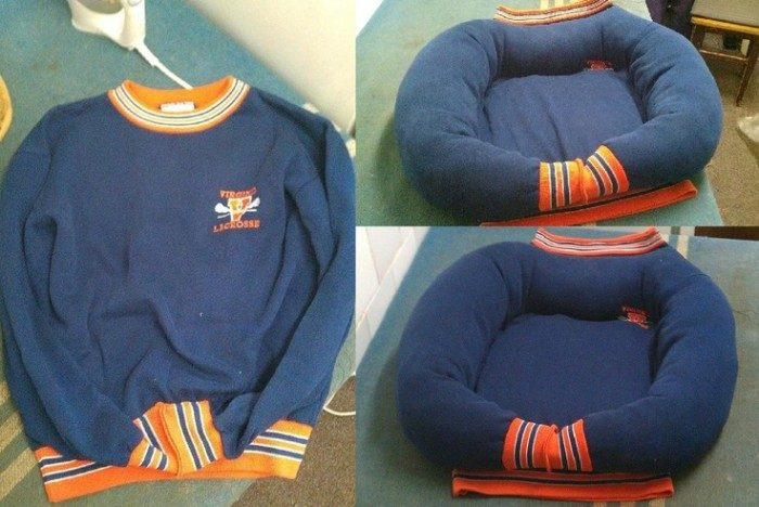 DIY-Sweatshirt-Pet-Bed-e1436348660816