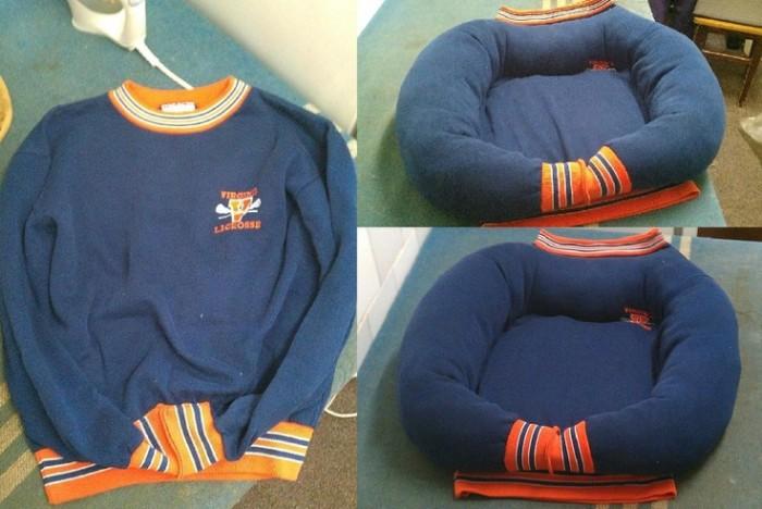 DIY-Sweatshirt-Pet-Bed-e1436348660816