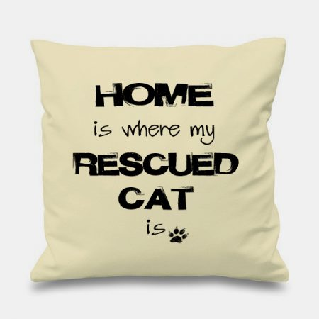 cream-cushion-HOME-WHERE-RESCUED-CAT-IS