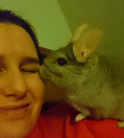 Helen & rescued adopted Chinchilla