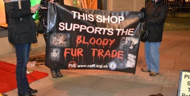 Harvey Nichols anti fur protest MM