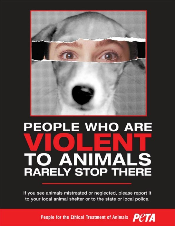 people-violent-to-anials-rarely-stop-there-peta-poster