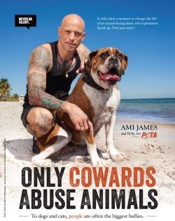 peta-cowards-abuse-animals-poster